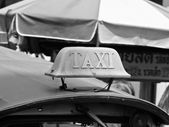 Macro view of taxi sign on car — Stock Photo