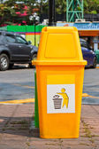Yellow Plastic Waste Container  — Stock Photo