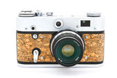 Old used dirty old-fashioned film photocamera — Stock Photo