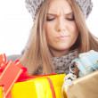 Young beautiful woman with a holiday gift — Stock Photo #37462187