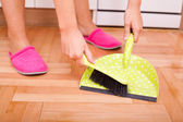 Cleaning and doing housework — Stock Photo