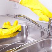 Huis schoonmaken — Stockfoto