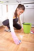 打扫房子 — 图库照片