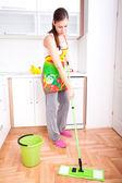 Frau Hausarbeit — Stockfoto
