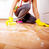 Haus reinigung — Stockfoto