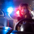 Police car in pursuit — Stock Photo