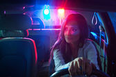 Police car in persuit — Stock Photo