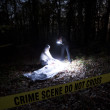 Stock Photo: Crime Scene Investigation