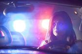 Carro da polícia em perseguição — Fotografia Stock
