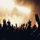 Group of people enjoying a concert — Stock Photo