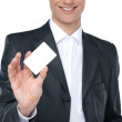 Blank business card in a hand. — Stock Photo