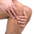 Stock Photo: Pain in knee.