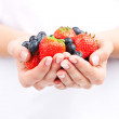 Hands holding berries  — Stock fotografie
