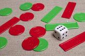 骰子 — 图库照片