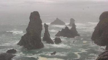 Rocks in the sea — Stock Video