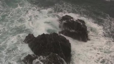 Sea littoral of Brittany — Stock Video