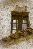 Old fashioned vicarage window — Stock Photo