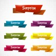 Surprise ribbons — Vector de stock #36481109