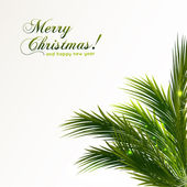 Branch of Christmas tree. Vector illustration — Stock Vector