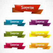 Surprise ribbons — Stock Vector
