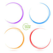 SET. Four Circles for your business — Stock Vector
