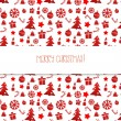 Red seamless pattern. Christmas. — Stock Vector