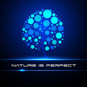 Equalizer. Tree. Nature is perfect — ストックベクタ
