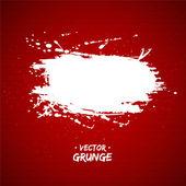 Bandera blanca grunge con espacio copia sobre fondo rojo abstracto. ilustración vectorial. — Vector de stock
