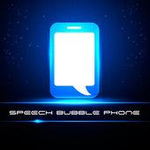 Speech bubble phone. — Stock Vector