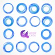 Business Abstract Circles icon. Corporate, Media, Technology styles vector design template. Set for your business. — Stock Vector #39031529