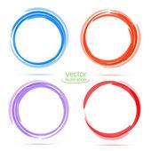Cuatro círculos para su negocio — Vector de stock