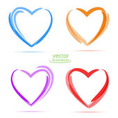 Four hearts for your business. — Stok Vektör
