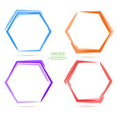 Four Circles for your business. hexahedron — Vecteur