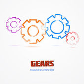 Gears. Business concept. Vector illustration. — Stock Vector