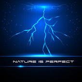 Lightning. Nature is perfect. Vector lightning flash strike background. Nature is perfect. Equalizer — Stock Vector