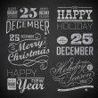 Christmas and Happy New Year — Vector de stock