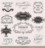 Calligraphic design elements — Vettoriale Stock