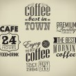 Stock Vector: Set of coffee , cafe typographic elements