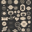 Set of retro  labels. Vector illustration. — Stock Vector