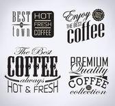 Set of coffee , cafe typographic elements — Stock Vector