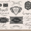 Calligraphic design elements — Image vectorielle