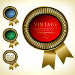 Retro vector golden framed label. Premium design elements. — Stock Vector