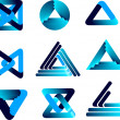Three-dimensional quality vector-icon with a lot of variety idea — Stock Vector