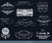 Calligraphic design elements — Vettoriale Stock