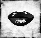 Modern lips background — Stock Vector
