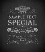 Giz tipografia, elementos de design caligráfico — Vetor de Stock