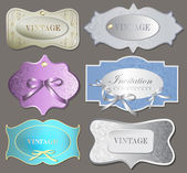 Set of retro labels. Vector illustration. — Stock Vector