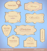 Set retro Labels — Stock Vector