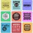 Retro  labels and typography, — Stock Vector