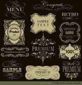 каллиграфические элементы дизайна — Cтоковый вектор